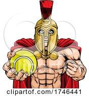 Poster, Art Print Of Spartan Trojan Tennis Sports Mascot