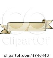 Poster, Art Print Of Scroll Vintage Woodcut Banner Paper Ribbon Drawing