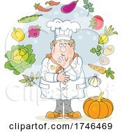 Chef with Veggies by Alex Bannykh #COLLC1746469-0056