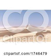 06/15/2021 - 3D Abstract Desert Landscape Scene