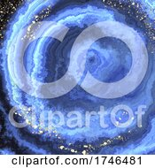 06/15/2021 - Abstract Background With Agate Texture And Gold Glitter