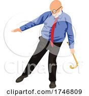 Poster, Art Print Of Senior Man Dancing With A Cane