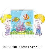 Children At An Aquarium