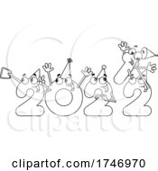 Poster, Art Print Of Black And White Year 2022 Numbers Partying