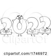 Poster, Art Print Of Black And White Year 2022 Chicken Numbers