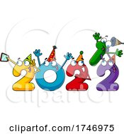 Poster, Art Print Of Year 2022 Numbers Partying