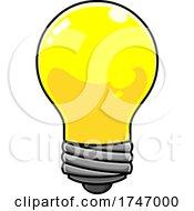 Poster, Art Print Of Yellow Light Bulb
