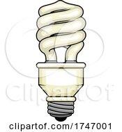 Poster, Art Print Of Spiral Light Bulb