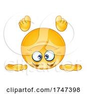 Poster, Art Print Of Upside Down Yellow Emoji Emoticon Smiley
