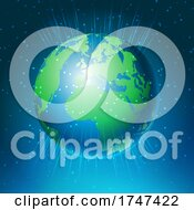 Poster, Art Print Of Abstract Background With World Globe Design