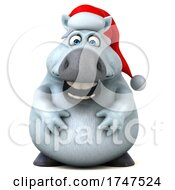 Poster, Art Print Of 3d Chubby White Horse On A White Background