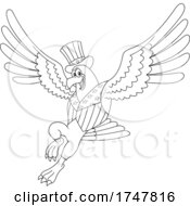 Bald Eagle In A Patriotic Hat And Vest