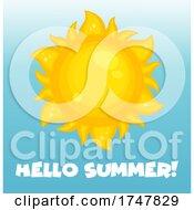 Sun With Hello Summer Text