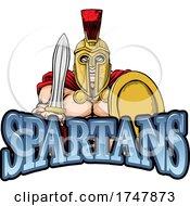 A Spartan Warrior Sports Mascot