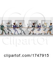 Poster, Art Print Of Tug Of War Rope Pulling Business People Concept