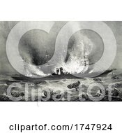 Burning Of The Inman Line Steamship On August 10th 1887