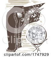 Poster, Art Print Of Woodcut Moon Wizards