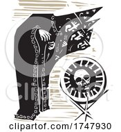 Poster, Art Print Of Woodcut Covid 19 Wizards