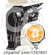 Poster, Art Print Of Woodcut Bitcoin Wizards