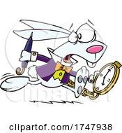 Cartoon Late Rabbit