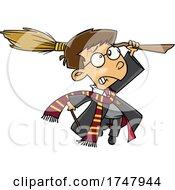Cartoon Boy Wizard