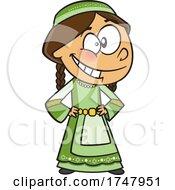 Cartoon Israeli Girl