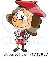 Cartoon French Girl