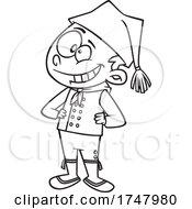 Black And White Cartoon Iceland Boy