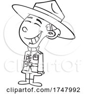 Black And White Cartoon Canadian Girl