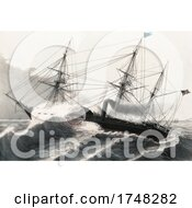 The US Steam Frigate Mississippi In The Gulf Of Mexico March 1847