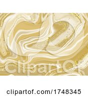 Abstract Marble Background With Glittery Gold Elements
