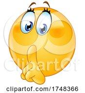 Poster, Art Print Of Shushing Female Emoji