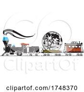 Woodcut Style Lunar Locomotive