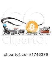 Woodcut Bitcoin Train
