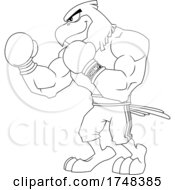 Bald Eagle Mascot Boxer Black And White