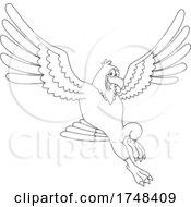 Bald Eagle Mascot Black And White