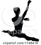 Poster, Art Print Of Ballet Dancer Dancing Silhouette