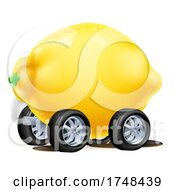 Cartoon Car Lemon Illustration by AtStockIllustration