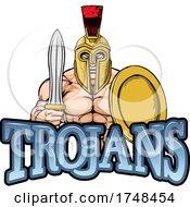 Trojan Sports Mascot by AtStockIllustration