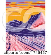 Swirling Grey And White Sandstone In White Pocket In Paria Plateau Located In Vermilion Cliffs National Monument Arizona United States WPA Poster Art