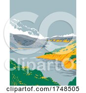 Lake Berryessa Within In Berryessa Snow Mountain National Monument In Yolo And Napa County California United States WPA Poster Art