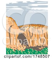 La Ventana Natural Arch Within El Malpais National Monument Located In New Mexico USA WPA Poster Art