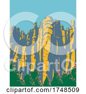 Hoodoos In The Chiricahua Mountains Located In Chiricahua National Monument In Arizona United States WPA Poster Art