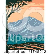 The Peak Of Mount Tamalpais Or Mount Tam Located Within Mt Tamalpais State Park In Marin County California United States Of America WPA Poster Art