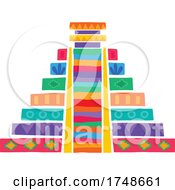 Poster, Art Print Of Mexican Themed Pyramid