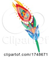 Poster, Art Print Of Mexican Themed Feather