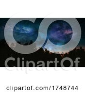 Poster, Art Print Of 3d Abstract Tree Landscape With Space Sky