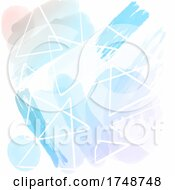 Abstract Background With Hand Painted Watercolour Design
