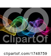 Poster, Art Print Of Abstract Modern Rainbow Waves Background