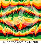 Poster, Art Print Of Abstract Retro Psychedelic Background 1201